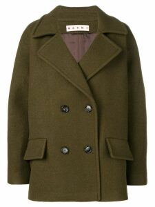 Marni classic double-breasted coat - Green