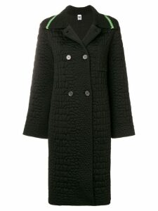 M Missoni oversized double breasted coat - Black