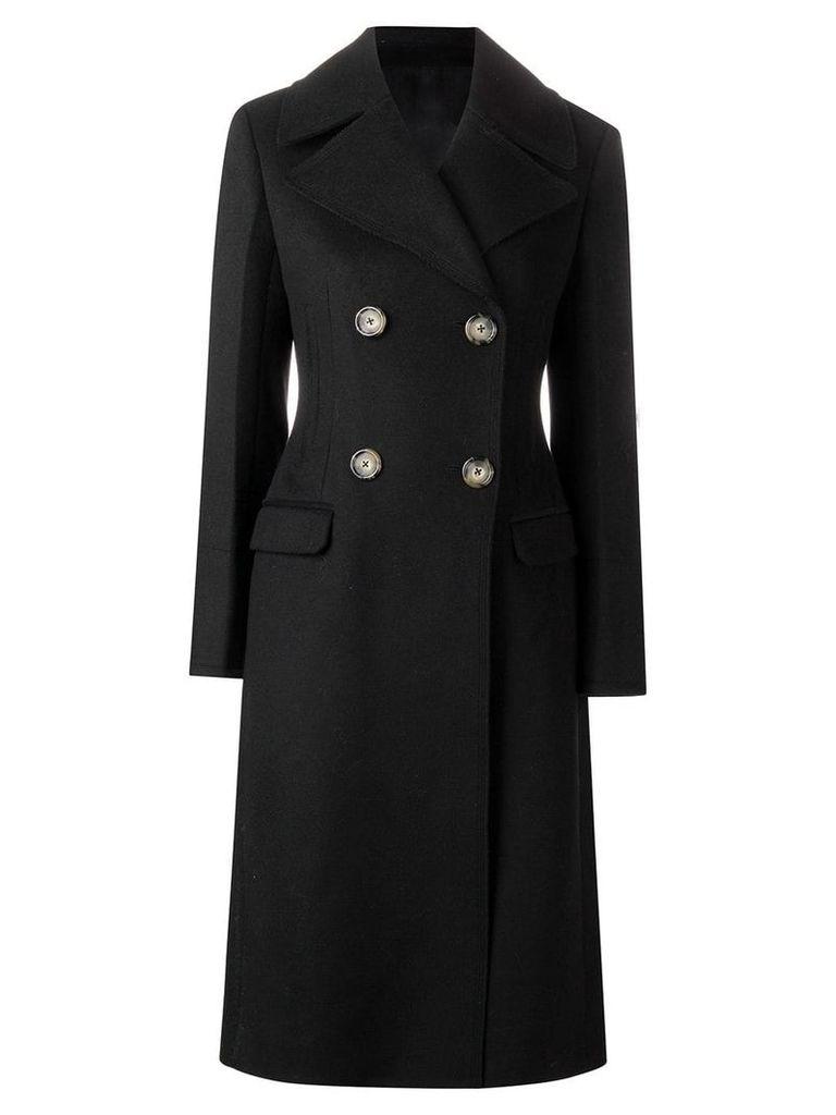 Helmut Lang tailored melton coat - Black