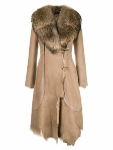 Desa 1972 asymmetric midi coat - Neutrals