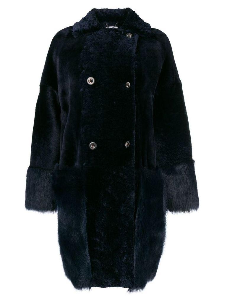 Desa 1972 shearling coat - Blue