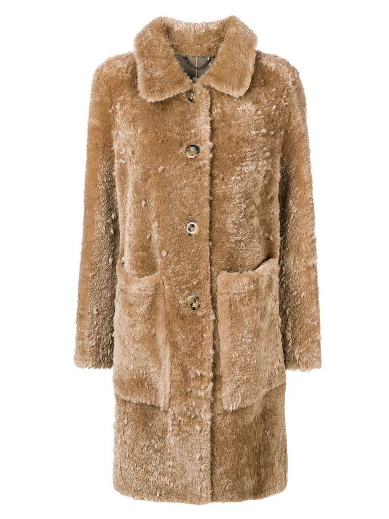 Desa 1972 oversized coat - Honey