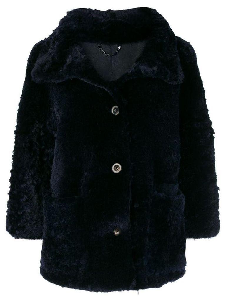 Desa 1972 short fur coat - Blue