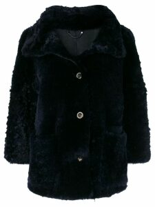 Desa 1972 short fur coat - Blue