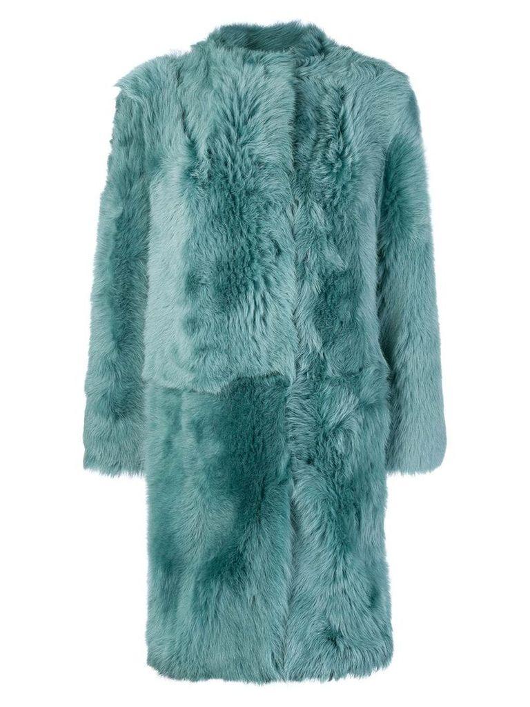 Desa 1972 oversized fur coat - Green