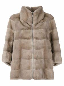 Cara Mila Alexa mink jacket - Neutrals