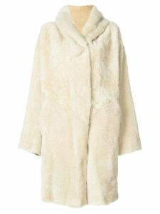 Sylvie Schimmel hooded shearling coat - Neutrals