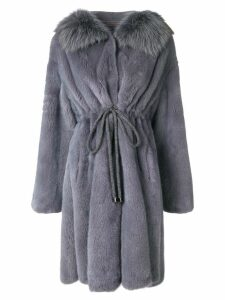 Liska drawstring coat - Blue