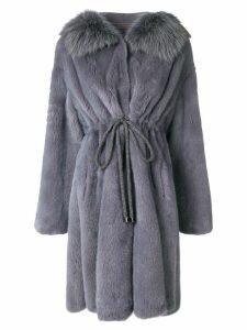Liska drawstring coat - Blue