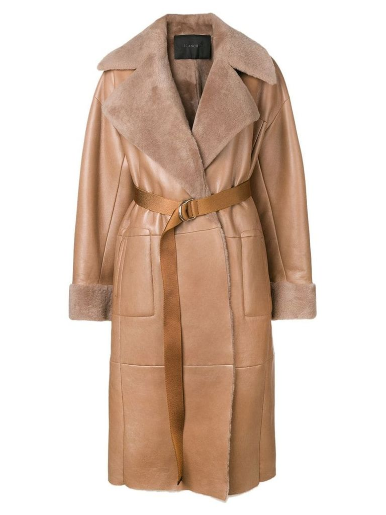 Blancha belted trench coat - Brown