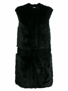 Desa 1972 textured sleeveless coat - Black