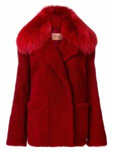 Yves Salomon fox fur coat - Red
