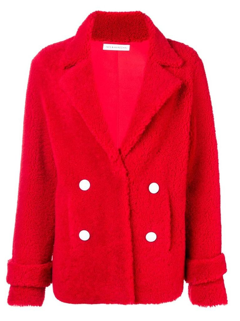 Inès & Maréchal double breasted coat - Red