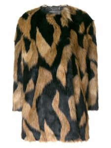 Givenchy spotted furry coat - Neutrals