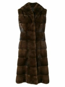 Liska fur detail coat - Brown