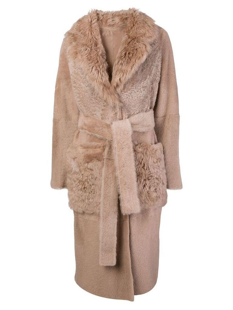 Yves Salomon shearling trench coat - Pink