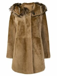 Yves Salomon reversible shearling coat - Brown
