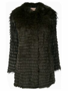 Yves Salomon knitted fox fur coat - Brown