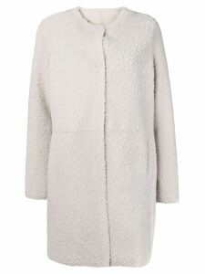 Yves Salomon reversible shearling coat - White