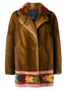 Blancha mink fur coat - Brown