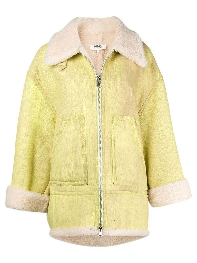 Mm6 Maison Margiela shearling coat - Yellow