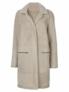 Plume Sprung Fréres zip pocket coat - Neutrals