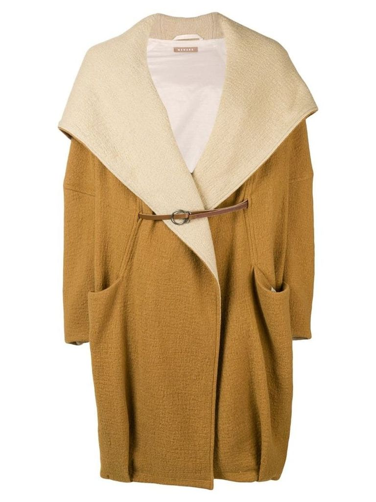 Nehera oversized hooded coat - Neutrals