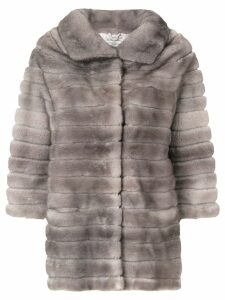 Adam Jones oversized fur coat - Grey
