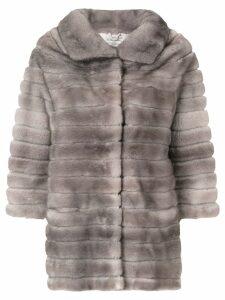 Adam Jones oversized fur coat - Grey