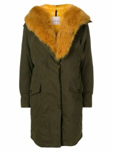 Moncler fox fur midi coat - Green