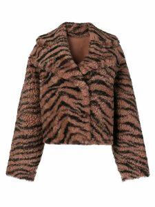 Drome zebra print coat - Neutrals