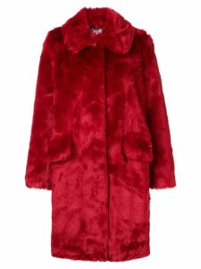 Shrimps contrast button coat - Red