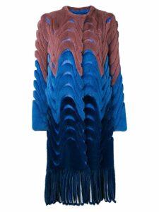 Liska Yoori colour block coat - Blue