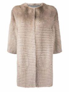Liska reversible fur coat - Neutrals