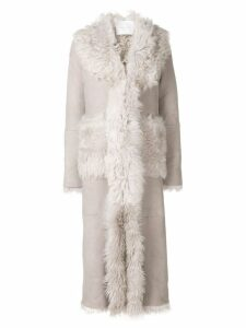 Giada Benincasa long shearling coat - Grey