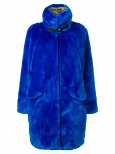 Rossignol faux-fur midi coat - Blue