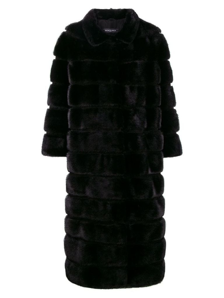 Simonetta Ravizza long fur coat - Black