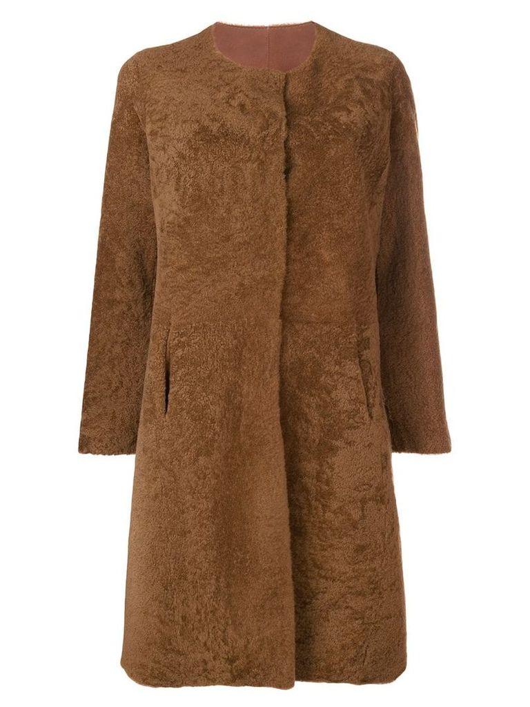 Giorgio Brato shearling coat - Brown