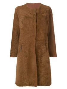 Giorgio Brato shearling coat - Brown