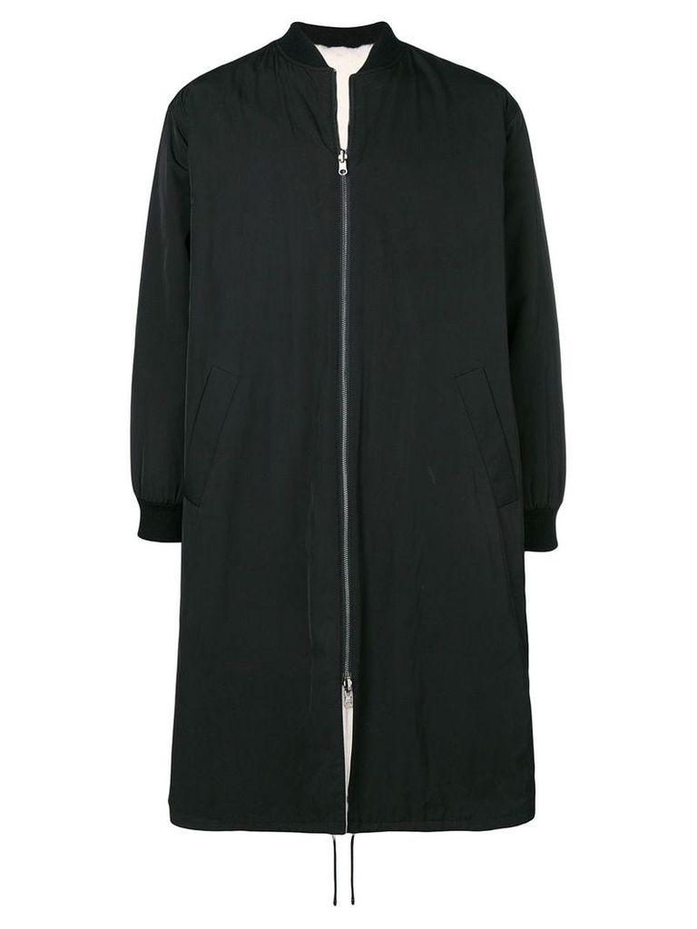 Liska long padded fur coat - Black