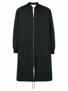 Liska long padded fur coat - Black