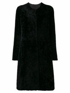Giorgio Brato fur single breasted coat - Black
