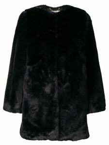 Michael Michael Kors collarless coat - Blue
