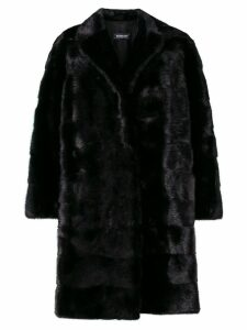Simonetta Ravizza oversize panelled fur coat - Black
