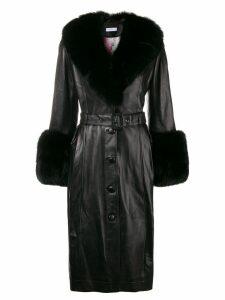 Saks Potts Foxy leather coat - Black