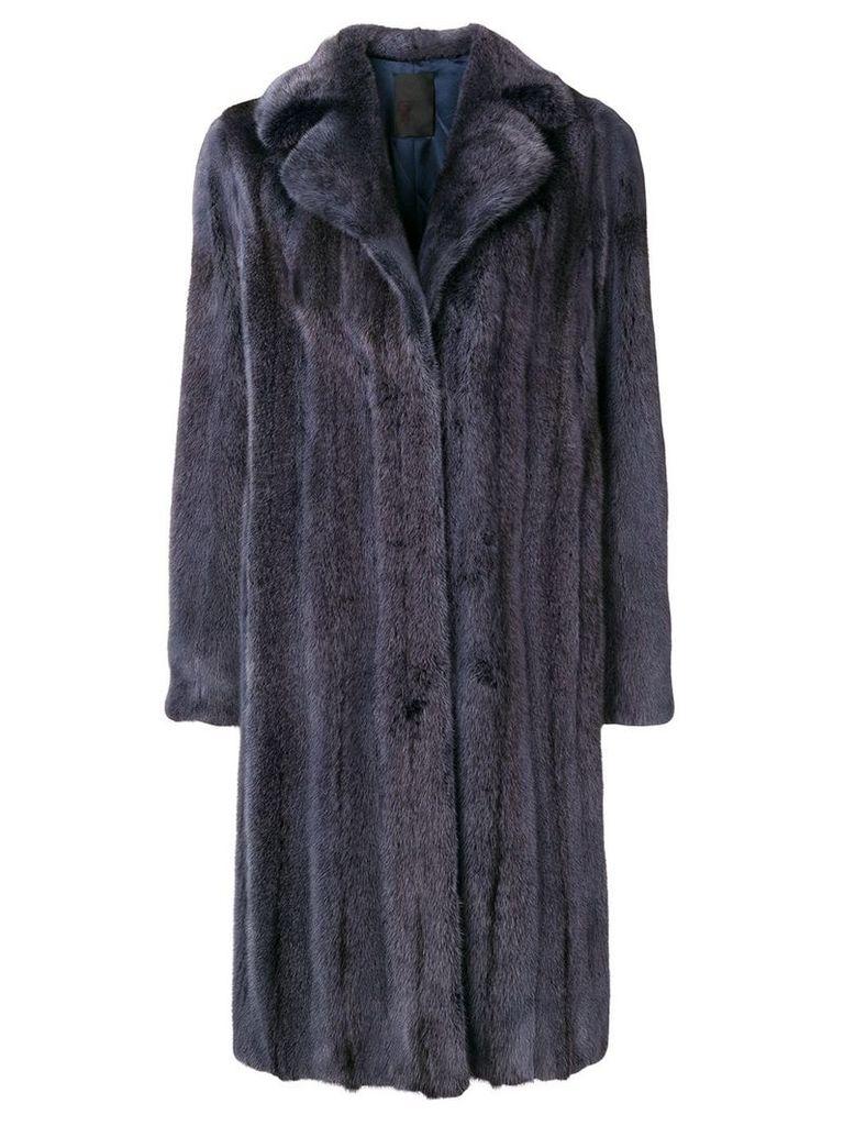 Liska midi oversized coat - Blue
