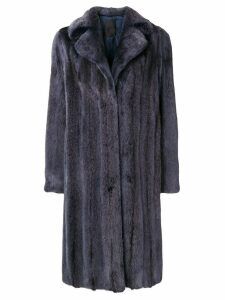 Liska midi oversized coat - Blue