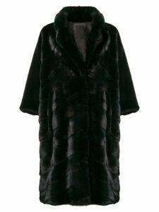 Liska oversized midi coat - Black
