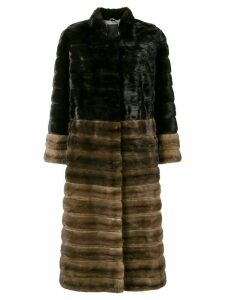 Liska high neck long coat - Brown
