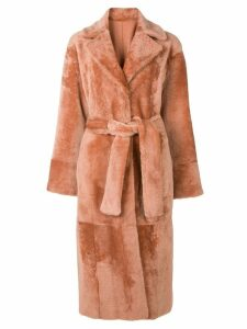 Drome belted long coat - Yellow